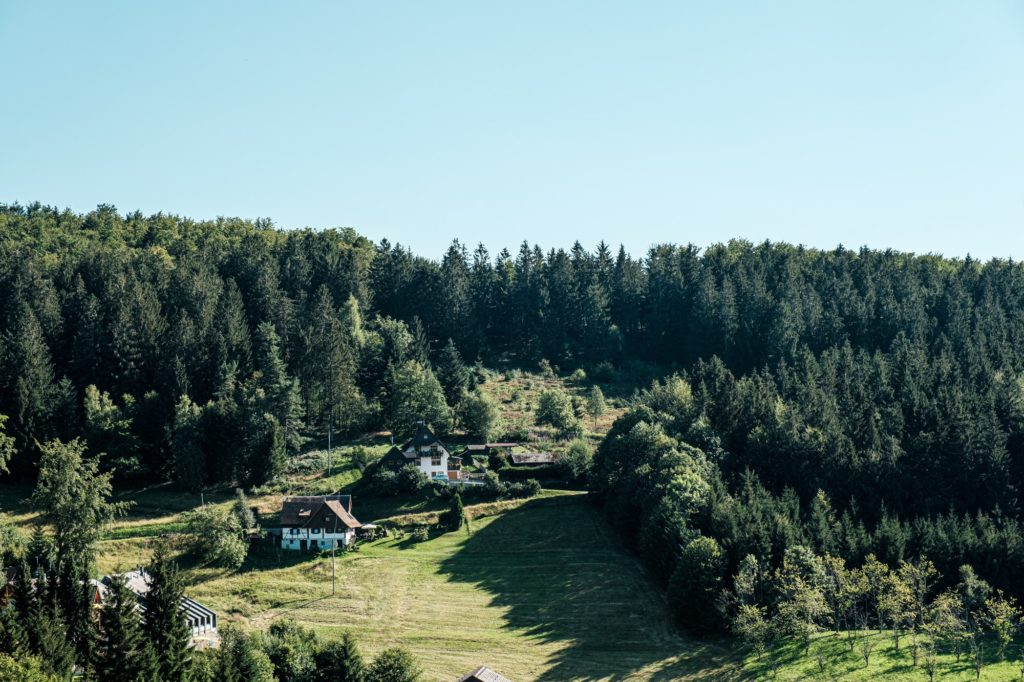Typical view of landscape in Sasbachwalden, Black Forest, Germany